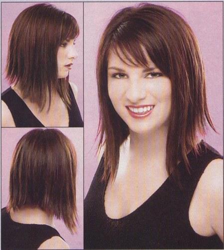 coupe cheveux carre plongeant long avec frange