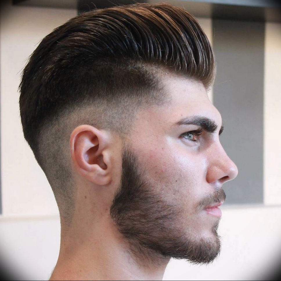 Degrade homme cheveux long au dessus