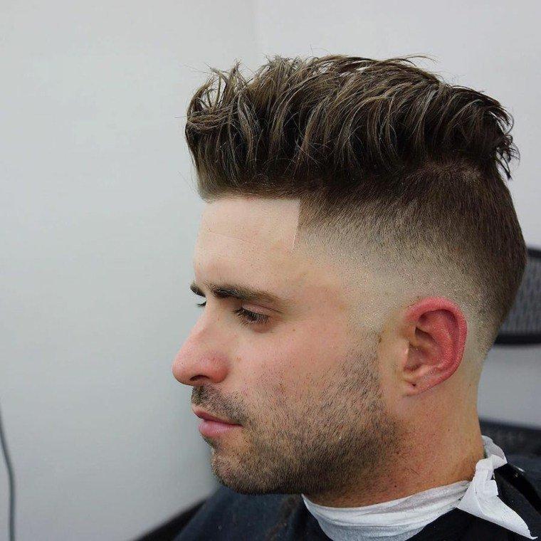 Fondu a blanc coiffure homme