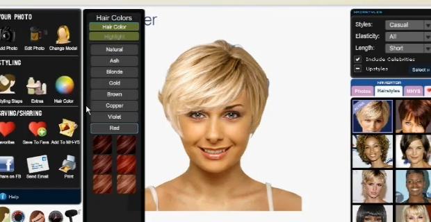 Simulation coupe de cheveux a partir d'une photo