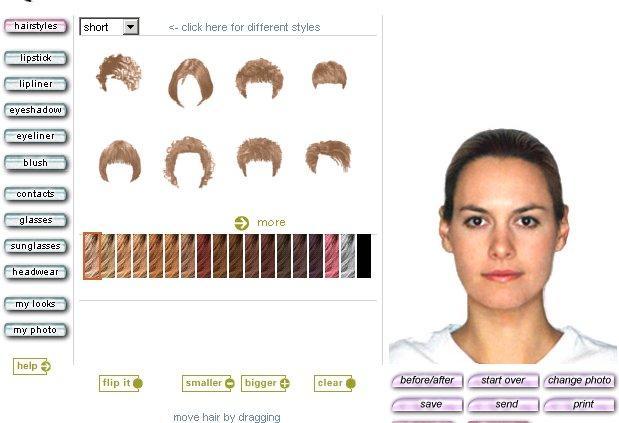 Tester des couleurs de cheveux en ligne